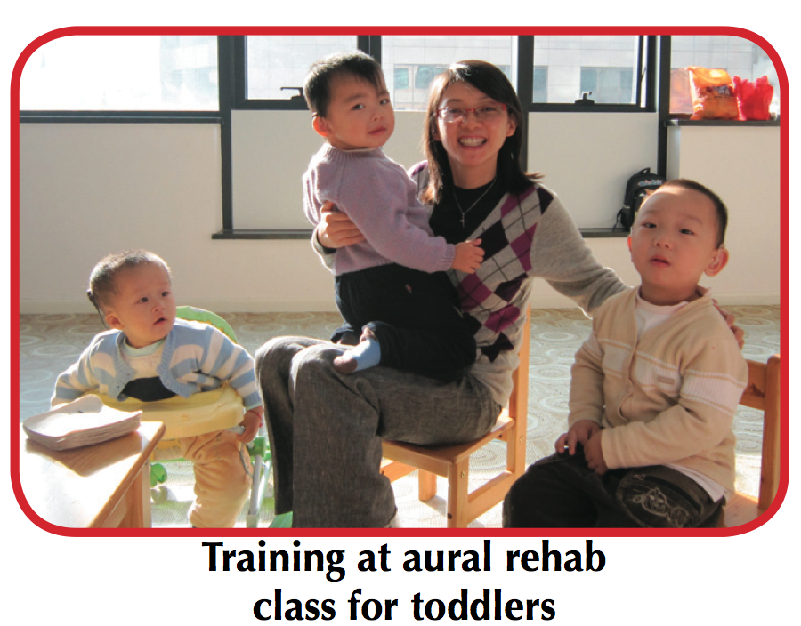 training at aural rehab class for toddlers