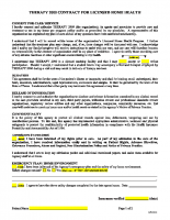 Admission Contract – English