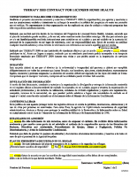 Admission Contract – Spanish